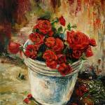 BUCKET OF ROSES - full of Love Prints & Posters