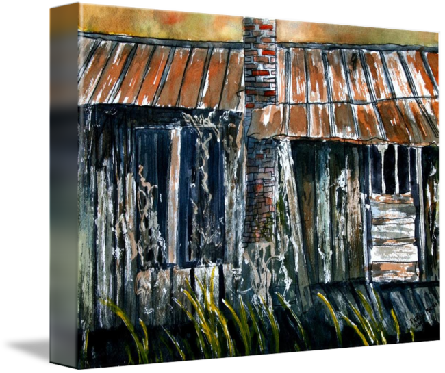 Rusted Tin Roof Old Barn Painting By Derek McCrea