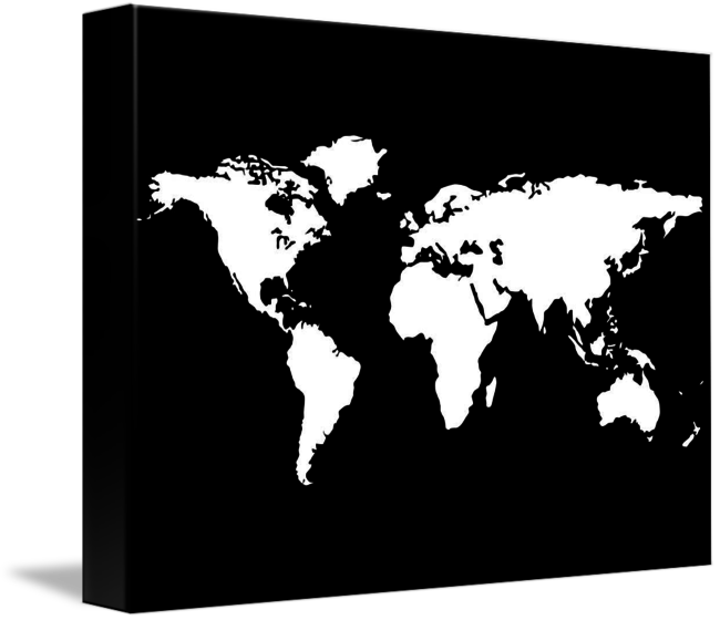 White world map isolated on black background by laschon robert paul gumiabroncs Gallery