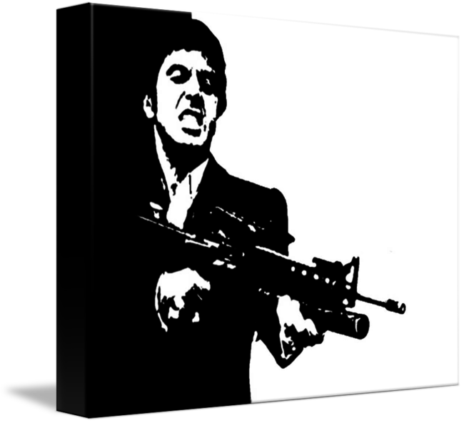 scarface cult classic pop art movie poster by cult classic movie posters