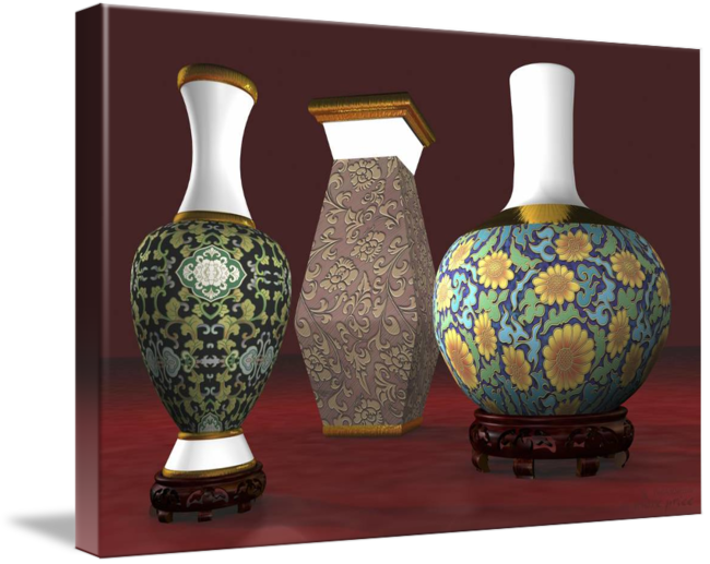 Asian Vases Deco 3d Model By Andre Price