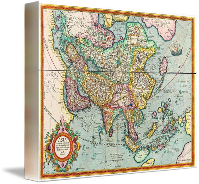 Ancient map of old world map explorer map by cult classic movie posters gumiabroncs Gallery