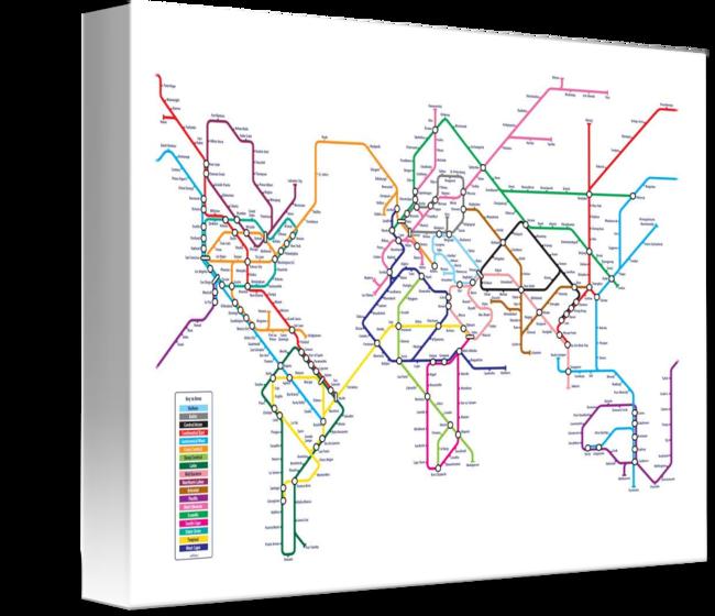 World Tube Metro Map By Michael Tompsett