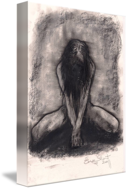 Nude Kneeling Front By Eamon Gilbert