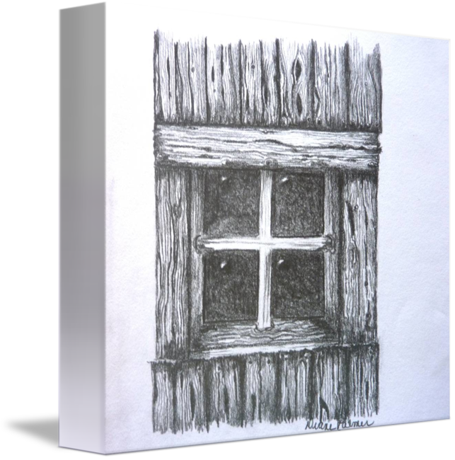 Old Barn Window Drawing By Diane Palmer
