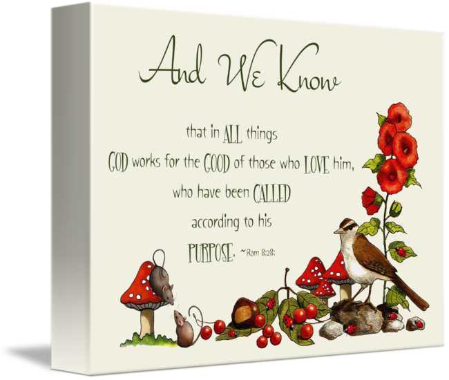 Bible Verse With Drawings Of Bird Mice Toadstool By