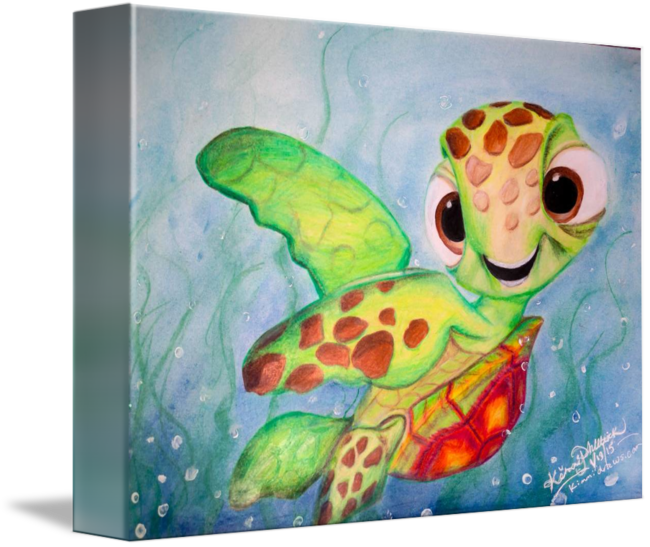 Disney S Finding Nemo Squirt Drawing By Kimmi Philbrick