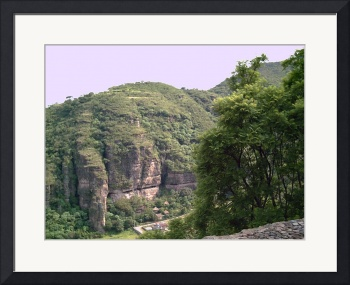 Mountains around Malinalco with Green Trees by Christopher Johnson
