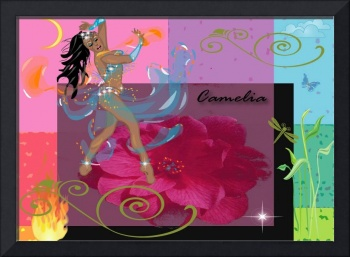digital image commissioned by the oriental belly dancer 'Camelia'
