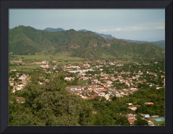 Malinalco Town Seen from Atop the Ruins by Christopher Johnson