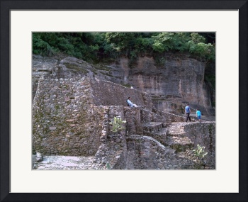 The side of the Malinalco ruins by Christopher Johnson
