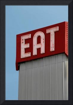 Eat Sign: A Classic Diner Sign by Phil Cardamone