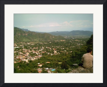 Malinalco Town from Above by Christopher Johnson
