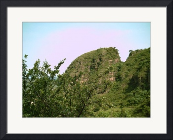 Malinalco a Mountain Top through the Trees by Christopher Johnson