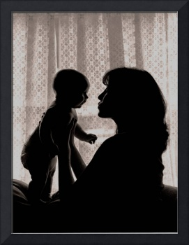 Mother Baby Silhouette by Sarah Schoenfeld