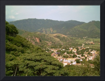 Malinalco Town Another View from Above by Christopher Johnson