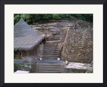 Malinalco Ruins Path up to Peak by Christopher Johnson