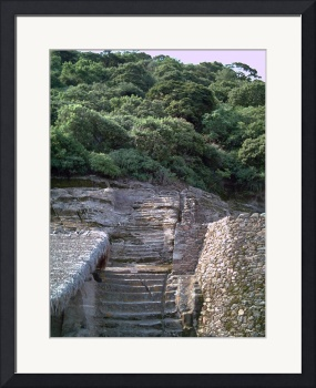Malinalco Ruins Path up to Peak - The Top? by Christopher Johnson