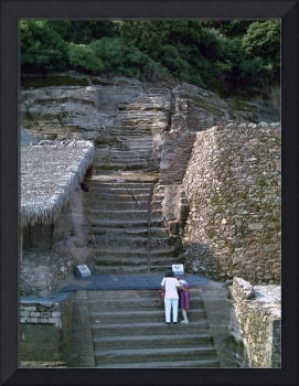 Two Women at Malinalco by Christopher Johnson