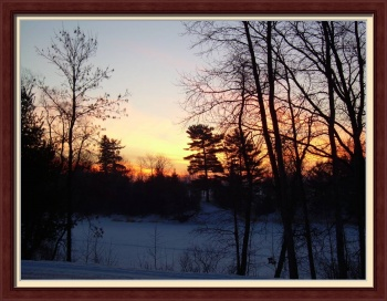 February Sunrise by Kent Lorentzen