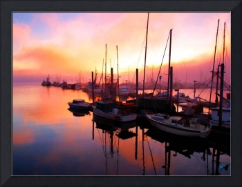 Juneau Boat Harbor Sunset by Dean Wittle