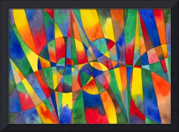 Color shards watercolor, Foxvox