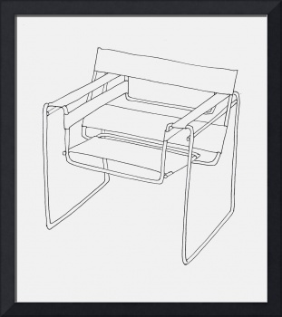 Wassily Chair Line Drawing
