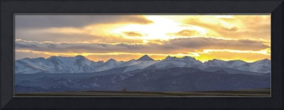 Colorado Front Range Panorama Gold