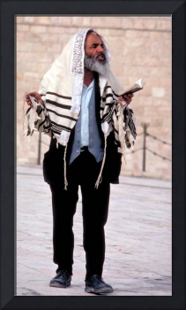 Rabbi at Western Wall