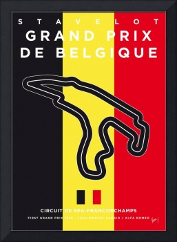 My F1 FRANCORCHAMPS Race Track Minimal Poster