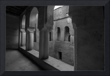 Courtyard, Ait Youl, Morocco