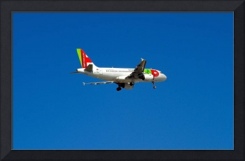 TAP-Portugal A319: My Son Landing in Lisbon