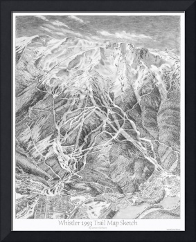 Whistler 1993 Trail Map Sketch