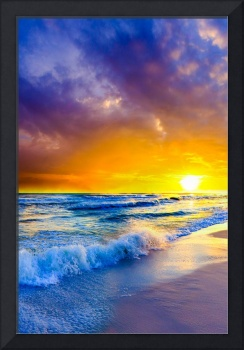 Beach-Sunset-on-Canvas-Orange-Purple-Ocean-Sunset-
