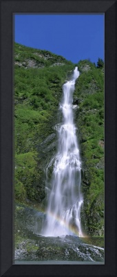 Low angle view of a waterfall