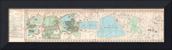 Vintage Map of Central Park New York (1860)