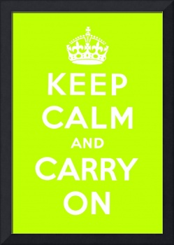 Green Keep Calm And Carry On 1