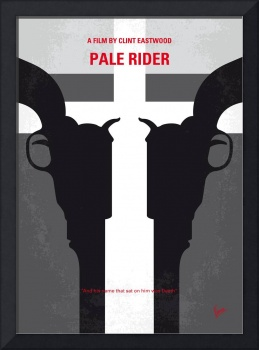 No640 My Pale Rider minimal movie poster