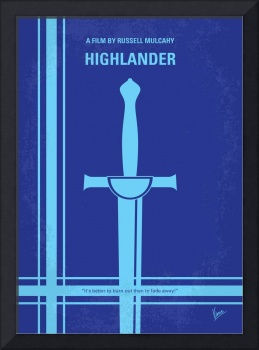 No034 My Highlander minimal movie poster
