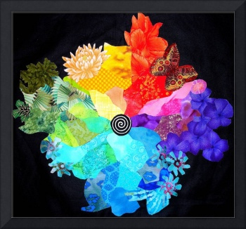Fabric Collage - Color Wheel