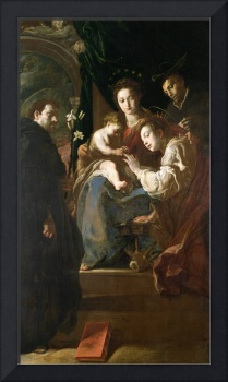 Mystical marriage of St. Catherine and the Christ