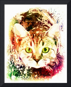 Pop Art Portrait of Pet Cat