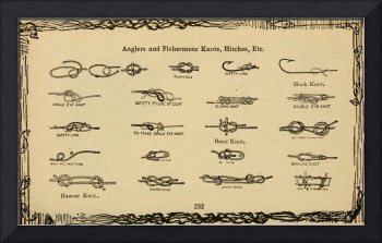 Vintage Diagram of Boating and Angler Knots (1913)