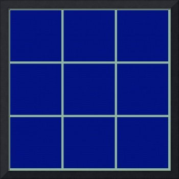 Blue Window 105 Canvas Contemporary Modern