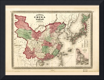 Map of China and Japan (1868)