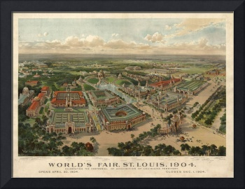 1904 St. Louis, MO WORLDS FAIR Birds Eye View