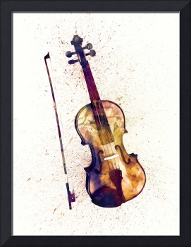 Violin Abstract Watercolor