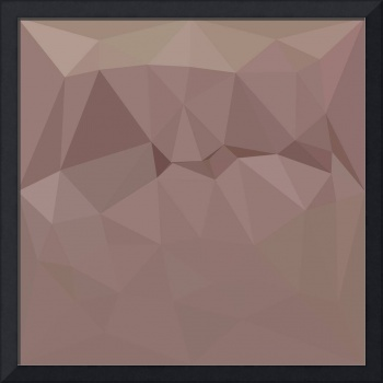 Copper Rose Abstract Low Polygon Background