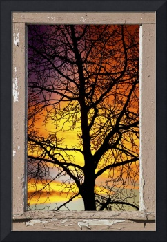 Sunset Into the Night  Window View 4