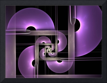 Purple Semicircles